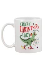 Crazy Christmas Lady Dinosaur Mug back