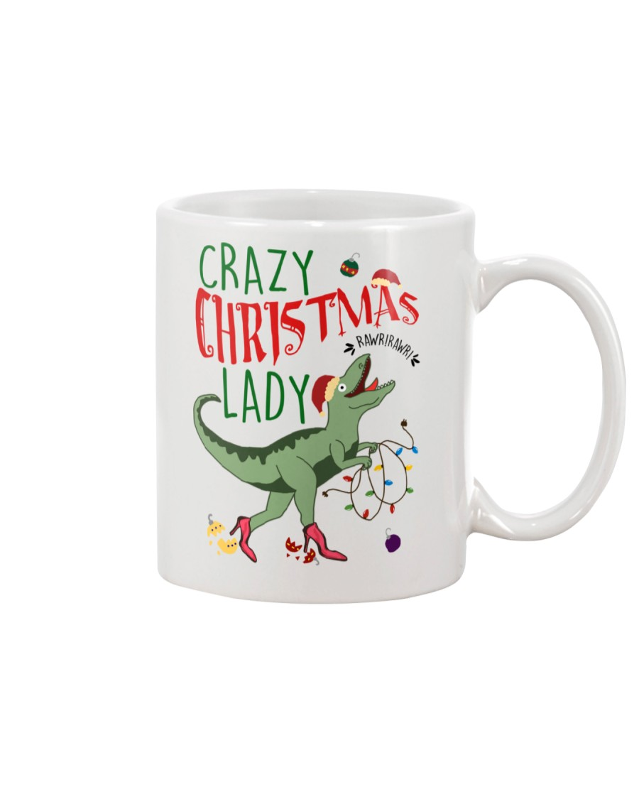 Crazy Christmas Lady Dinosaur Mug