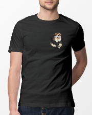 Cute Dog Pocket Inside  Classic T-Shirt lifestyle-mens-crewneck-front-13