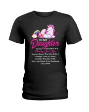 Unicorn Always Remember Mommy Loves You Mom Ladies T-Shirt thumbnail