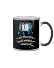 The Day I Met You My Missing Piece Penguin Color Changing Mug thumbnail