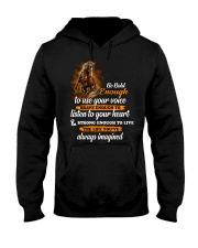 Be Bold Enough To Use Your Voice Horse  Hooded Sweatshirt thumbnail