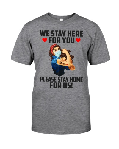 We stay here for you please stay home for us