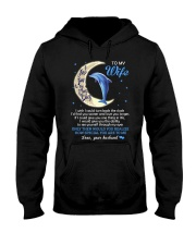 I Love You To The Moon And Back Dolphin  Hooded Sweatshirt thumbnail