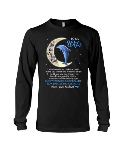 I Love You To The Moon And Back Dolphin