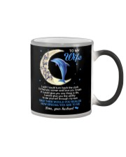 I Love You To The Moon And Back Dolphin  Color Changing Mug tile