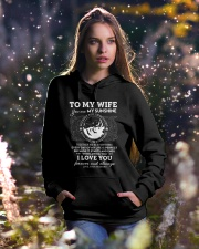 You Are My Sunshine Wolf Hooded Sweatshirt lifestyle-holiday-hoodie-front-5