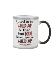I Used To Be Wild AF Family  Color Changing Mug tile