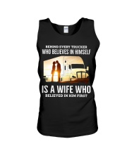 A Wife Who Believe In Him First Trucker Unisex Tank thumbnail