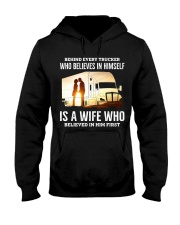 A Wife Who Believe In Him First Trucker Hooded Sweatshirt thumbnail