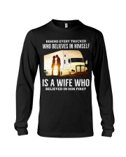 A Wife Who Believe In Him First Trucker Long Sleeve Tee thumbnail