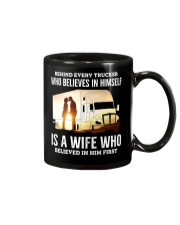 A Wife Who Believe In Him First Trucker Mug thumbnail