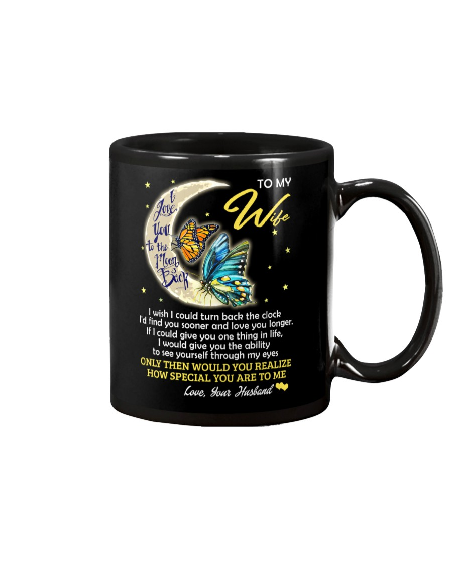 I Love You To The Moon And Back Butterfly  Mug