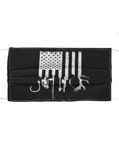 Fishing American Flag Face Masks CC