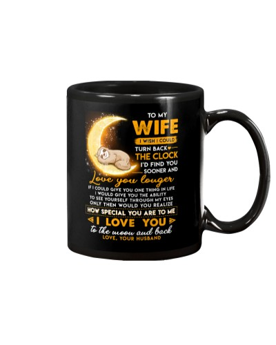 Sloth Wife Clock Ability Moon Mug