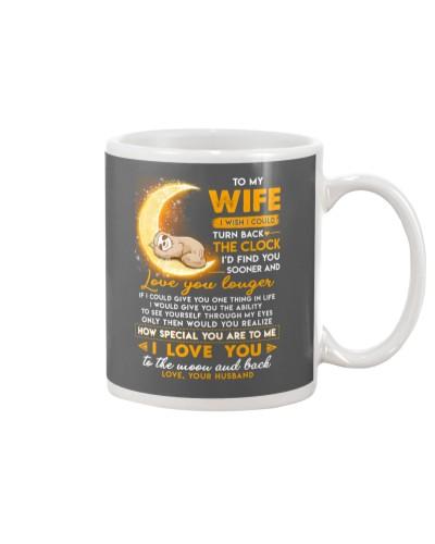 Sloth Wife Clock Ability Moon Mug