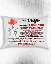 Just To Say I Love You Rectangular Pillowcase aos-pillow-rectangle-front-lifestyle-4