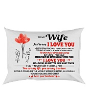Just To Say I Love You Rectangular Pillowcase back