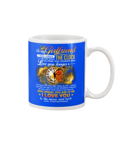 Butterfly Girlfriend Clock Ability Moon Mug