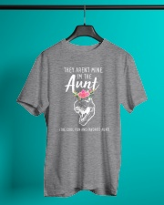They Aren't Mine I'm The Aunt Dinosaur Classic T-Shirt lifestyle-mens-crewneck-front-3