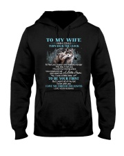 I Love You Forever And Always Wolf Hooded Sweatshirt front