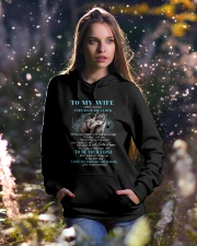 I Love You Forever And Always Wolf Hooded Sweatshirt lifestyle-holiday-hoodie-front-5
