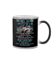 I Love You Forever And Always Wolf Color Changing Mug thumbnail
