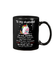 I'm Not Perfect Unicorn Mug front