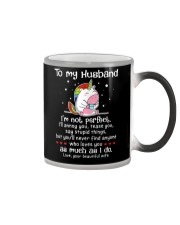I'm Not Perfect Unicorn Color Changing Mug thumbnail