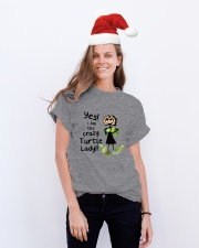 I Am The Crazy Turtle Lady Classic T-Shirt lifestyle-holiday-crewneck-front-1