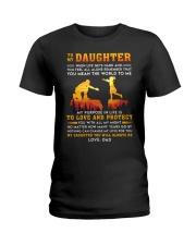 Life Gets Hard Daughter Ladies T-Shirt thumbnail