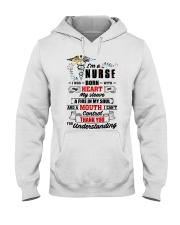 I Was Born With My Heart On My Sleeve Nurse Hooded Sweatshirt thumbnail