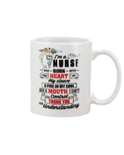 I Was Born With My Heart On My Sleeve Nurse Mug thumbnail