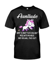 What Is Aunttude You Ask Unicorn Classic T-Shirt thumbnail