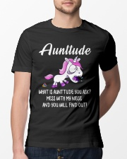 What Is Aunttude You Ask Unicorn Classic T-Shirt lifestyle-mens-crewneck-front-13
