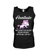 What Is Aunttude You Ask Unicorn Unisex Tank thumbnail