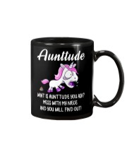 What Is Aunttude You Ask Unicorn Mug thumbnail