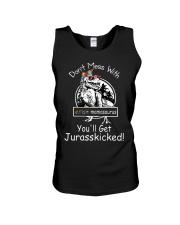Don't Mess With Autism Dinosaur Unisex Tank thumbnail