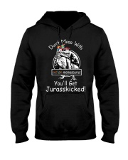 Don't Mess With Autism Dinosaur Hooded Sweatshirt thumbnail