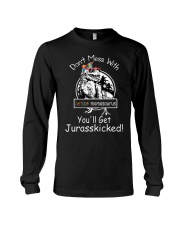 Don't Mess With Autism Dinosaur Long Sleeve Tee thumbnail