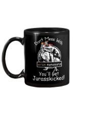 Don't Mess With Autism Dinosaur Mug back
