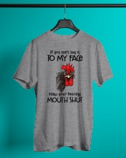 Say To My Face Chicken Classic T-Shirt lifestyle-mens-crewneck-front-3