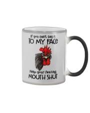 Say To My Face Chicken Color Changing Mug thumbnail