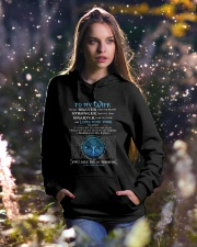 You Are Braver Than You Believe Wolf Hooded Sweatshirt lifestyle-holiday-hoodie-front-5