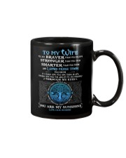 You Are Braver Than You Believe Wolf Mug thumbnail