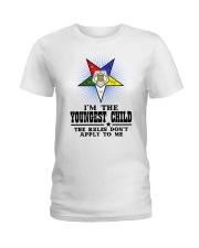 FREEMASON YOUNGEST CHILD FOR DAUGHTER Ladies T-Shirt thumbnail