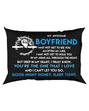 Mechanic Boyfriend Good Night Sleep Tight Pillow Rectangular Pillowcase back