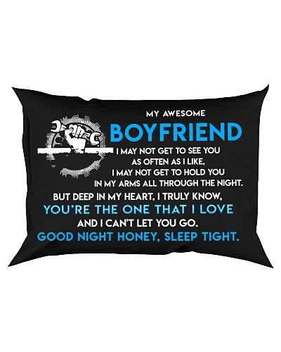 Mechanic Boyfriend Good Night Sleep Tight Pillow