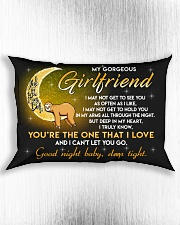 Sloth Girlfriend Good Night Baby Sleep Tight Rectangular Pillowcase aos-pillow-rectangle-front-lifestyle-4
