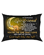 Sloth Girlfriend Good Night Baby Sleep Tight Rectangular Pillowcase back